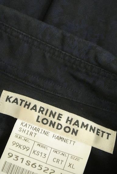 KATHARINE HAMNETT LONDON(キャサリンハムネットロンドン)の古着「ジャガードプリントシャツ(カジュアルシャツ)」大画像6へ