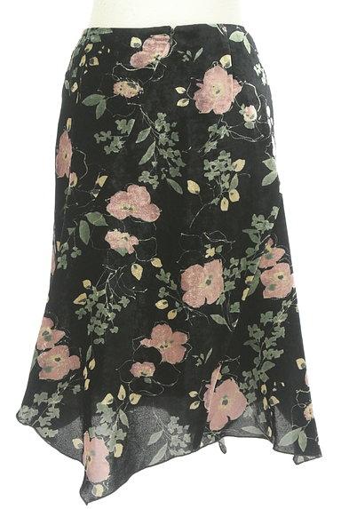 LOUNIE(ルーニィ)の古着「イレヘム花柄ベロアスカート(スカート)」大画像2へ