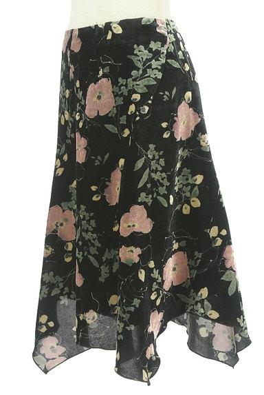 LOUNIE(ルーニィ)の古着「イレヘム花柄ベロアスカート(スカート)」大画像3へ
