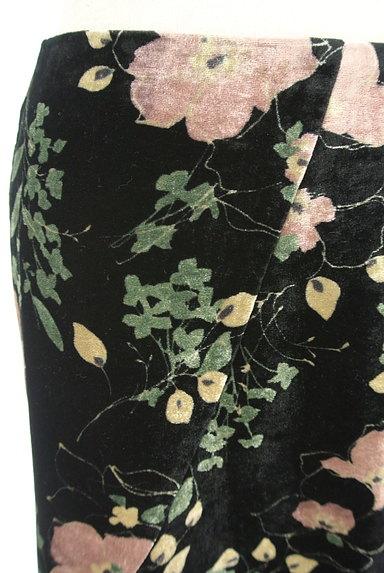 LOUNIE(ルーニィ)の古着「イレヘム花柄ベロアスカート(スカート)」大画像4へ