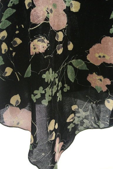 LOUNIE(ルーニィ)の古着「イレヘム花柄ベロアスカート(スカート)」大画像5へ