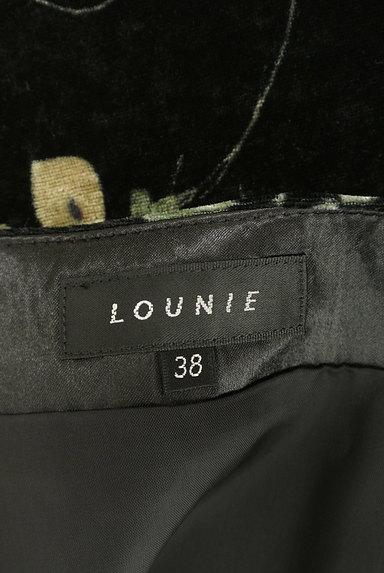 LOUNIE(ルーニィ)の古着「イレヘム花柄ベロアスカート(スカート)」大画像6へ