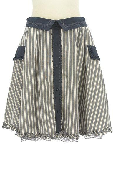 axes femme(アクシーズファム)の古着「フリル&レースストライプ柄フレアスカート(スカート)」大画像1へ