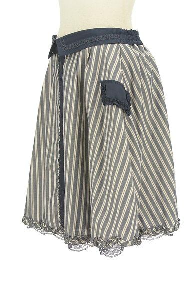 axes femme(アクシーズファム)の古着「フリル&レースストライプ柄フレアスカート(スカート)」大画像3へ