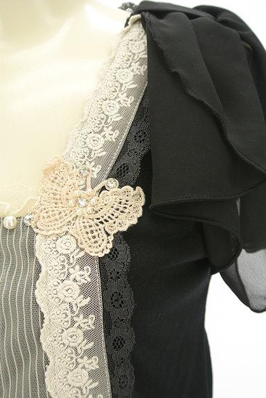 axes femme(アクシーズファム)の古着「シフォン袖レース切替カットソー(カットソー・プルオーバー)」大画像4へ