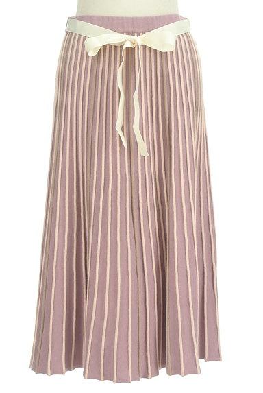 axes femme(アクシーズファム)の古着「プリーツのようなリブニットスカート(ロングスカート・マキシスカート)」大画像1へ
