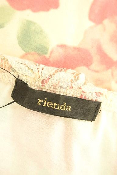 rienda(リエンダ)の古着「刺繍レース×ローズ柄ミニワンピ(キャミワンピース)」大画像6へ