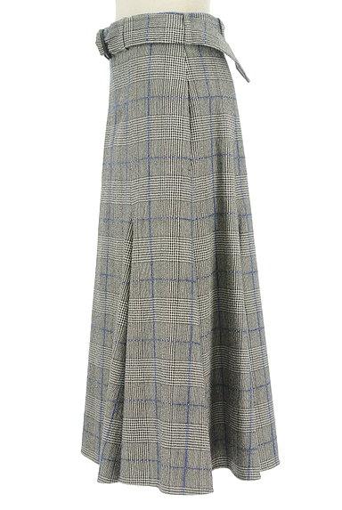 JOSEPH(ジョゼフ)の古着「ロングチェックフレアスカート(ロングスカート・マキシスカート)」大画像3へ