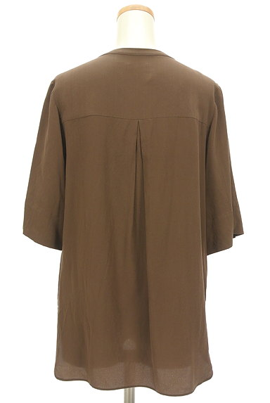 JOSEPH(ジョゼフ)の古着「とろみシルクの5分袖カットソー(カットソー・プルオーバー)」大画像2へ