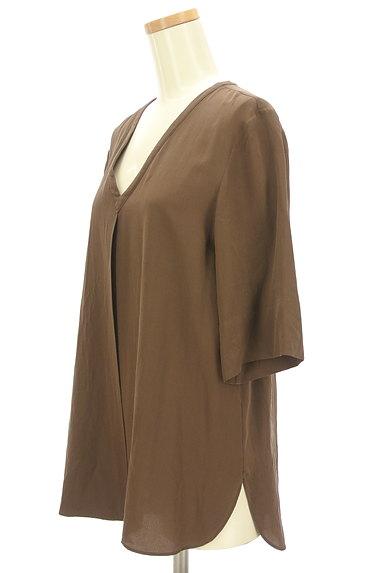 JOSEPH(ジョゼフ)の古着「とろみシルクの5分袖カットソー(カットソー・プルオーバー)」大画像3へ