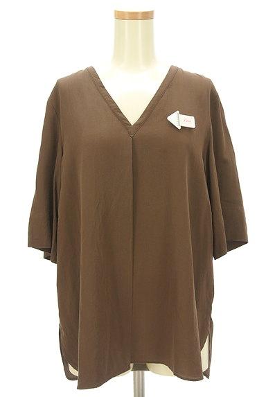 JOSEPH(ジョゼフ)の古着「とろみシルクの5分袖カットソー(カットソー・プルオーバー)」大画像4へ