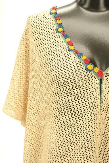 Jocomomola(ホコモモラ)の古着「カラフル刺繍のクロシェカーデ(カーディガン・ボレロ)」大画像4へ