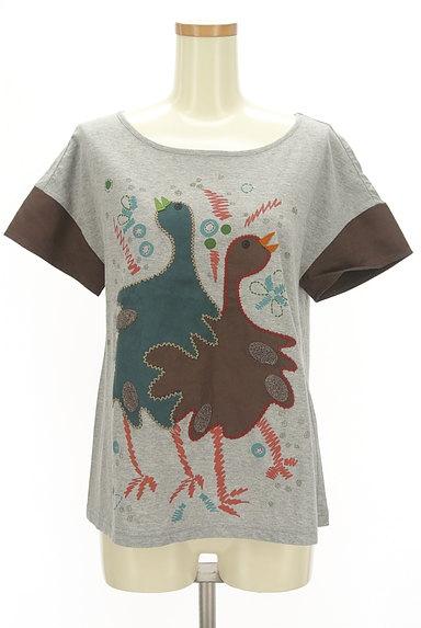 Jocomomola(ホコモモラ)の古着「ガーガープリントステッチTシャツ(Tシャツ)」大画像1へ