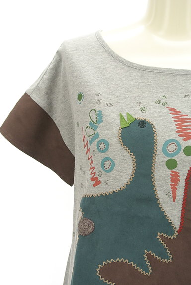 Jocomomola(ホコモモラ)の古着「ガーガープリントステッチTシャツ(Tシャツ)」大画像4へ
