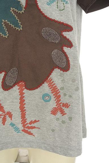 Jocomomola(ホコモモラ)の古着「ガーガープリントステッチTシャツ(Tシャツ)」大画像5へ