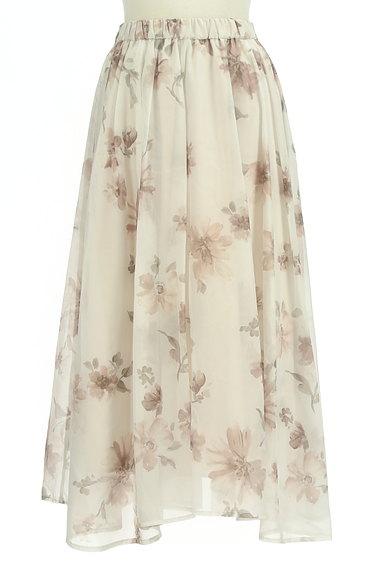 31 Sons de mode(トランテアン ソン ドゥ モード)の古着「ふわっとエアリーな花柄スカート(ロングスカート・マキシスカート)」大画像1へ
