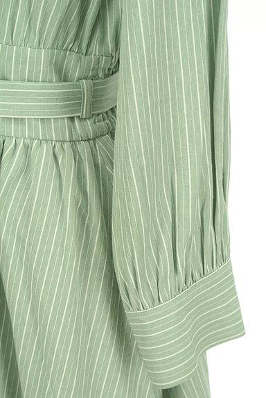 31 Sons de mode(トランテアン ソン ドゥ モード)の古着「抜け襟ストライプシャツワンピース(ワンピース・チュニック)」大画像5へ