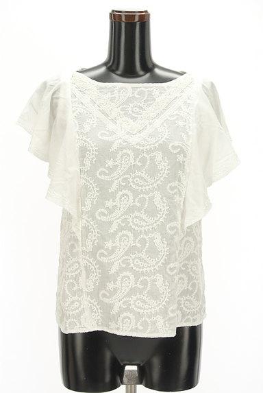 Khaju(カージュ)の古着「ペイズリー刺繍フリル袖カットソー(カットソー・プルオーバー)」大画像1へ