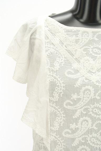 Khaju(カージュ)の古着「ペイズリー刺繍フリル袖カットソー(カットソー・プルオーバー)」大画像4へ