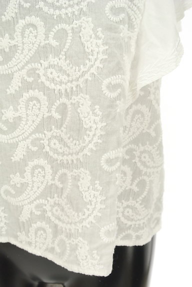 Khaju(カージュ)の古着「ペイズリー刺繍フリル袖カットソー(カットソー・プルオーバー)」大画像5へ