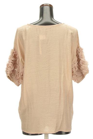ROSSO(ロッソ)の古着「シフォン花袖微光沢五分袖カットソー(カットソー・プルオーバー)」大画像2へ