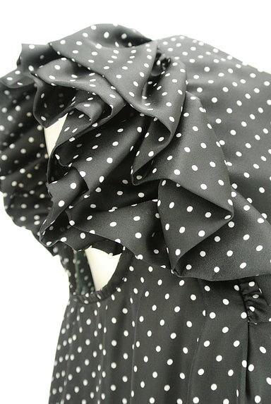 DOUBLE STANDARD CLOTHING(ダブルスタンダードクロージング)の古着「微光沢ドット柄フリル袖カットソー(カットソー・プルオーバー)」大画像4へ