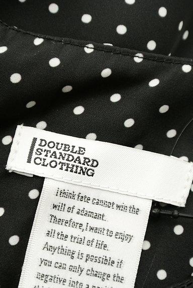 DOUBLE STANDARD CLOTHING(ダブルスタンダードクロージング)の古着「微光沢ドット柄フリル袖カットソー(カットソー・プルオーバー)」大画像6へ