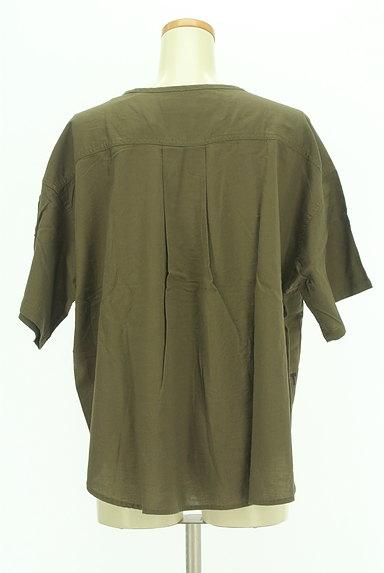 CUBE SUGAR(キューブシュガー)の古着「ワッペン付きノーカラーシャツ(カジュアルシャツ)」大画像2へ