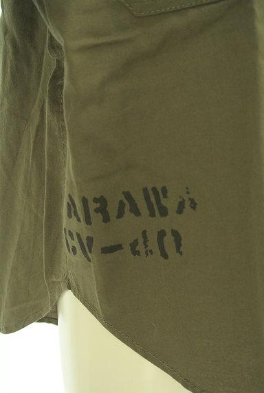 CUBE SUGAR(キューブシュガー)の古着「ワッペン付きノーカラーシャツ(カジュアルシャツ)」大画像5へ