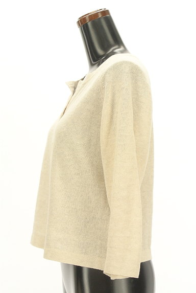 MARGARET HOWELL(マーガレットハウエル)の古着「コットンリネンカーディガン(カーディガン・ボレロ)」大画像3へ