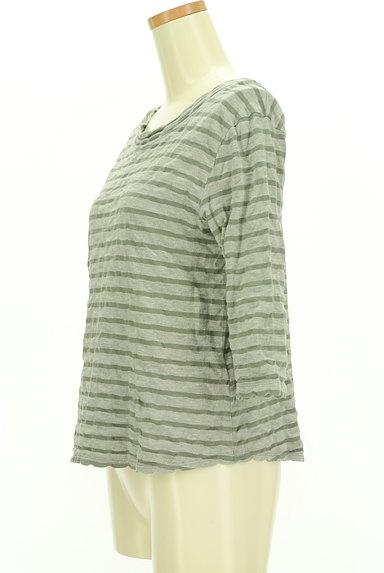 Sally Scott(サリースコット)の古着「スカラップボーダー七分袖カットソー(カットソー・プルオーバー)」大画像3へ