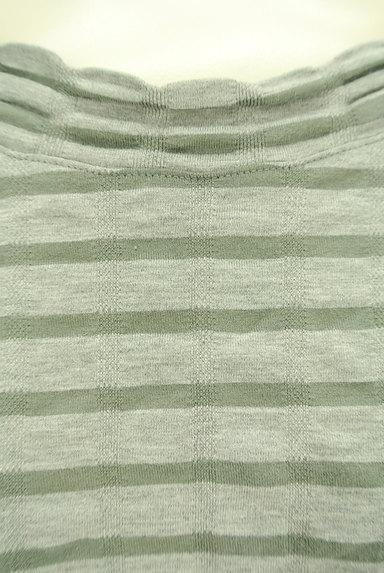 Sally Scott(サリースコット)の古着「スカラップボーダー七分袖カットソー(カットソー・プルオーバー)」大画像4へ