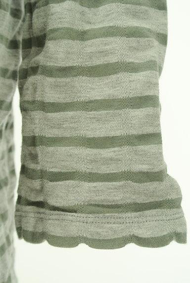 Sally Scott(サリースコット)の古着「スカラップボーダー七分袖カットソー(カットソー・プルオーバー)」大画像5へ