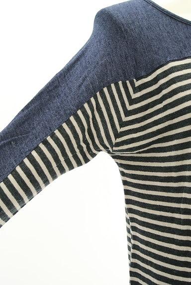 Sally Scott(サリースコット)の古着「無地×ボーダー切替ニット(ニット)」大画像4へ