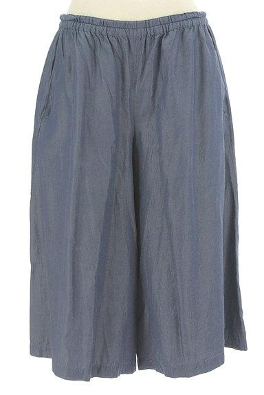 Sally Scott(サリースコット)の古着「シャンブレー膝下丈ハーフパンツ(ショートパンツ・ハーフパンツ)」大画像1へ