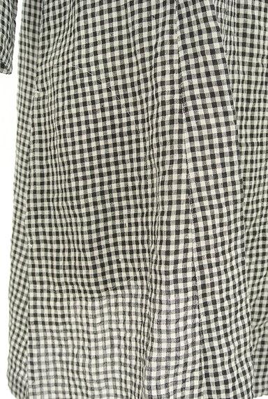 Mademoiselle NON NON(マドモアゼルノンノン)の古着「ギンガムチェック柄七分袖リネンシャツ(カジュアルシャツ)」大画像5へ