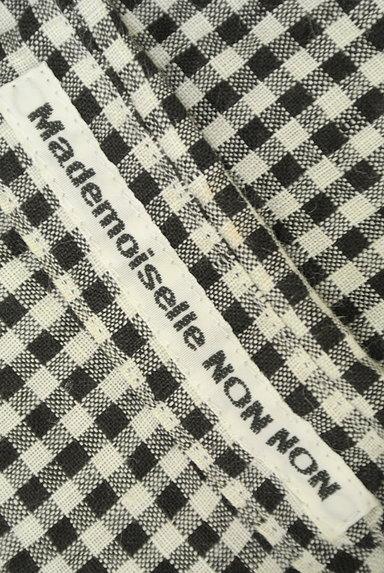 Mademoiselle NON NON(マドモアゼルノンノン)の古着「ギンガムチェック柄七分袖リネンシャツ(カジュアルシャツ)」大画像6へ