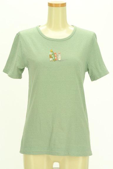 Mademoiselle NON NON(マドモアゼルノンノン)の古着「クマプリントTシャツ(Tシャツ)」大画像1へ
