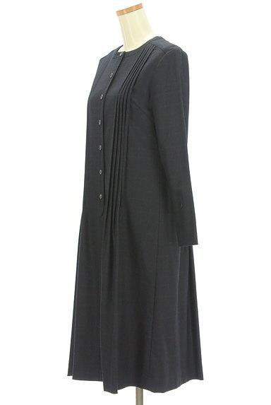 Mademoiselle NON NON(マドモアゼルノンノン)の古着「バンドカラーチェック柄ワンピース(ワンピース・チュニック)」大画像3へ