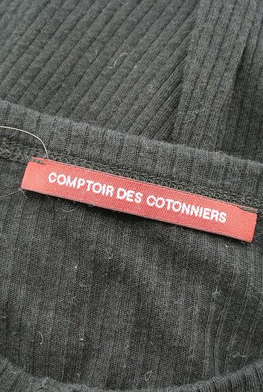 Comptoir des Cotonniers(コントワーデコトニエ)の古着「ヘンリーネックステッチリブカットソー(ニット)」大画像6へ