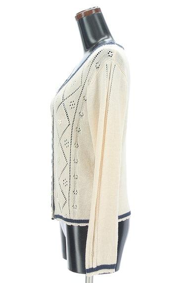 axes femme(アクシーズファム)の古着「アーガイルチェック透かし編みカーディガン(カーディガン・ボレロ)」大画像3へ