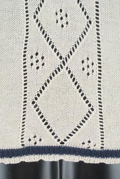 axes femme(アクシーズファム)の古着「アーガイルチェック透かし編みカーディガン(カーディガン・ボレロ)」大画像5へ