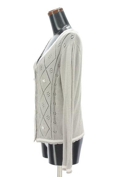 Aylesbury(アリスバーリー)の古着「アーガイルチェック透かし編みカーディガン(カーディガン・ボレロ)」大画像3へ