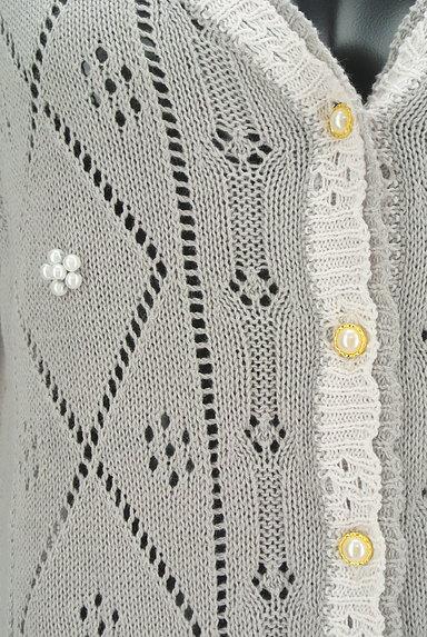 Aylesbury(アリスバーリー)の古着「アーガイルチェック透かし編みカーディガン(カーディガン・ボレロ)」大画像4へ