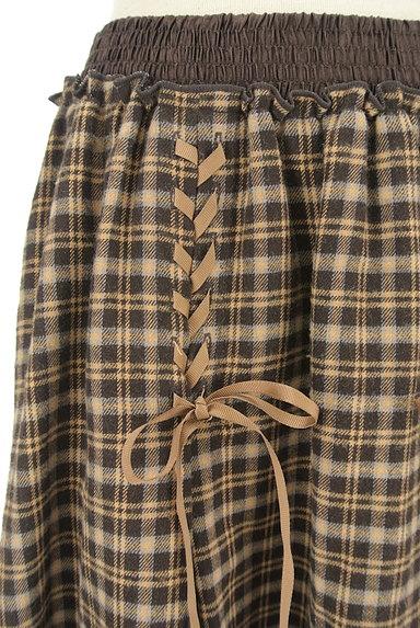 axes femme(アクシーズファム)の古着「レースアップチェック柄膝下丈スカート(スカート)」大画像4へ