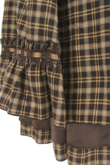 axes femme(アクシーズファム)の古着「レースアップチェック柄膝下丈スカート(スカート)」大画像5へ