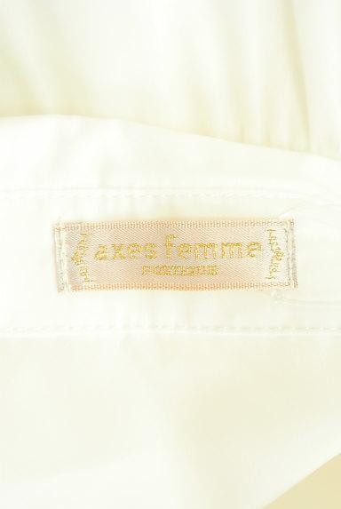 axes femme(アクシーズファム)の古着「微光沢ティアードフリルブラウス(ブラウス)」大画像6へ