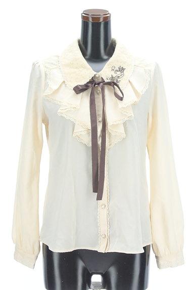 axes femme(アクシーズファム)の古着「刺繍入りレース&フリルブラウス(ブラウス)」大画像1へ