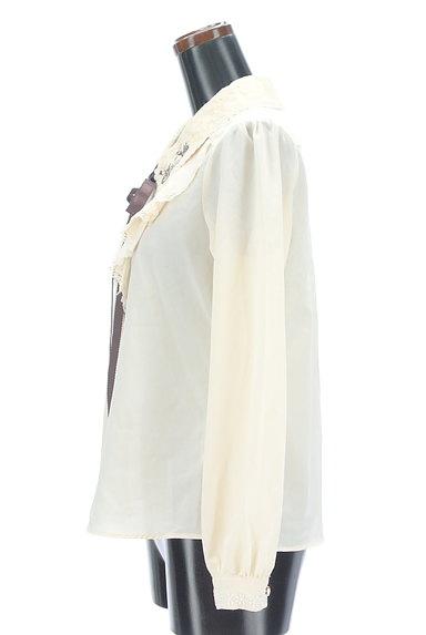 axes femme(アクシーズファム)の古着「刺繍入りレース&フリルブラウス(ブラウス)」大画像3へ