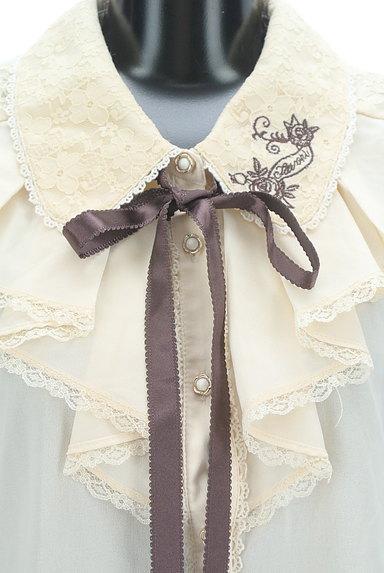 axes femme(アクシーズファム)の古着「刺繍入りレース&フリルブラウス(ブラウス)」大画像4へ